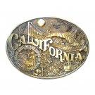 California First Edition State Seal ADM Award Design Brass Belt Buckle
