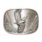 Smith & Wesson American Traditions Eagle Logo Antique Silver Belt Buckle