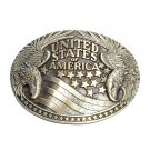 United States Of America Seal Double Eagle ADM Vintage Solid Brass Belt Buckle
