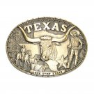 Texas Lone Star State ADM Vintage Solid Brass Belt Buckle
