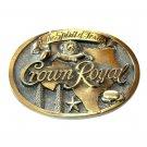 Spirit Of Texas Crown Royal Great American Brass Color Belt Buckle