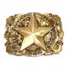 Lone Star State Texas Vintage Award Design Medals Solid Brass Belt Buckle