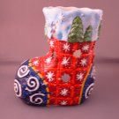 CHRISTMAS STOCKING TEALITE HOLDER CERAMIC NEW FROM GANZ HOLIDAY CHRISTMAS DECOR