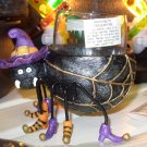 HALLOWEEN VOTIVE HOLDER SPOOKY WITCH SPIDER NEW GANZ HOLIDAY HOME DECOR