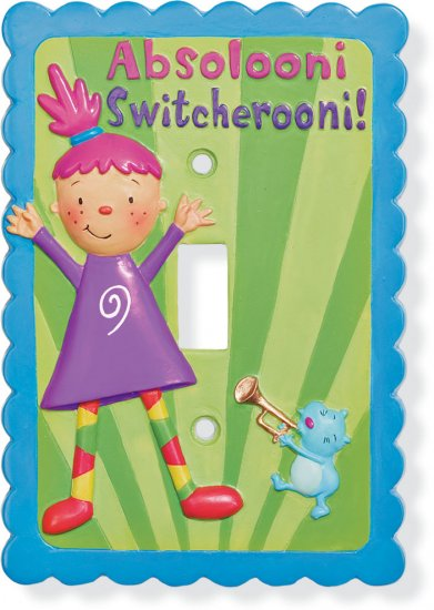 GUND PINKY DINKY DOO LIGHT SWITCHPLATE COVER NEW GUND NOGGIN TV CHARACTER