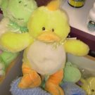 BABY RATTLE GANZ LUVEMS LITTLE YELLOW DUCKIE RATTLE PLUSH STUFFED DUCK NEW WITH TAGS BABY SAFE