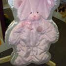 GUND MY FIRST TEDDY CUDDLEHUGS PINK BEAR BLANKET WALL HANGING NEW WITH TAGS BABY