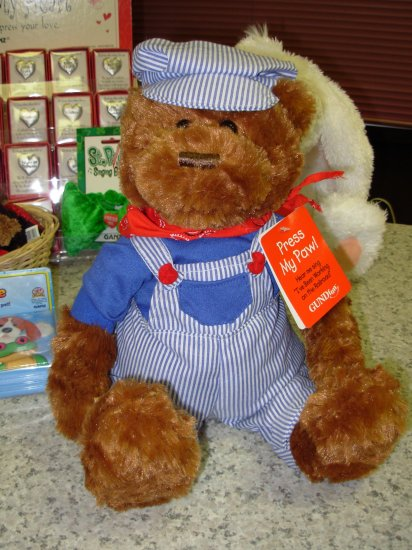 GUND FUN LIL SPROUT SINGS I'VE BEEN WORKING ON THE RAILROAD ANIMATED TEDDYBEAR NWT RETIRED