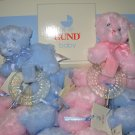 GUND MY FIRST TEDDY PINK BEAR TEETHER BABY GUND NEW WITH TAGS TEETHING RING
