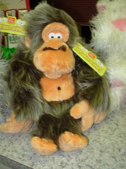 GUND HAIROIDS WONKERS GORILLA PLUSH STUFFED ANIMAL GUND NEW WITH TAGS RETIRED