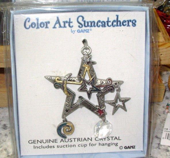 SUNCATCHER STAR COLOR ART BY GANZ NEW ENAMELED PEWTER