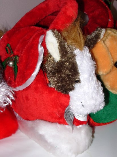 HORSE STUFFED PLUSH ANIMAL LOVE TO GO LIZZLE IN CARRYING PURSE NEW GANZ SOUND TOY WHINNIES!