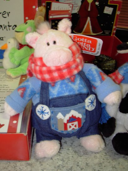 GUND DOWN ON THE FARM HOGGINS STUFFED PLUSH ANIMAL PIG RETIRED GUND NEW WITH ORIGINAL TAGS