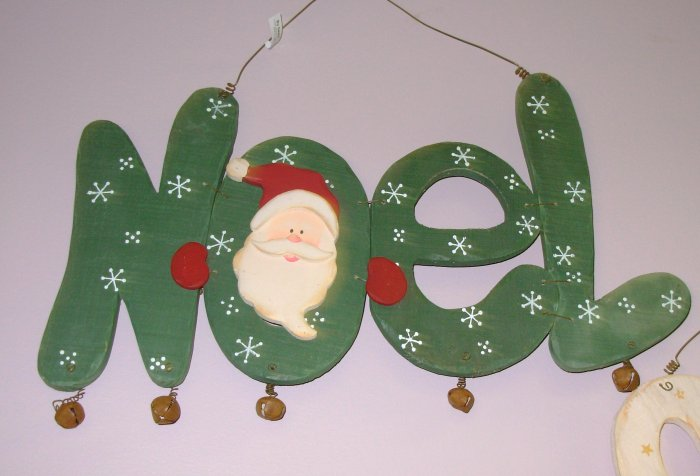 WOODEN SIGN SAYS NOEL NEW CHRISTMAS HOME INDOOR OR OUTDOOR DECORATION HOME DECOR GANZ