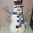 SNOWMAN AND SNOWFLAKE BIRDHOUSE HOME AND GARDEN HOLIDAY SEASONAL DECOR NEW GANZ