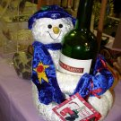 SNOWMAN BOTTLE WRAP WINE BOTTLE HUGGER NEW WITH TAGS GANZ GREAT HOSTESS XMAS GIFT