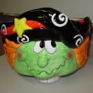 HALLOWEEN PIRATE WITCH CANDY BOWL CERAMIC NEW GANZ HOLIDAY HOME DECOR