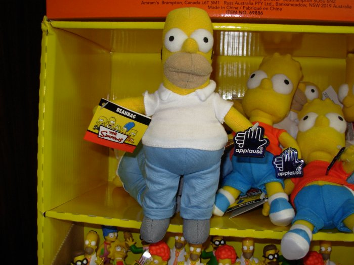 HOMER SIMPSON BEANBAG DOLL NEW RUSS BERRIE APPLAUSE TOY THE SIMPSONS TV CHARACTER