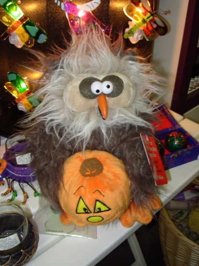 GUND HOWTON AND PUMPKIN BUMPKIN PLUSH STUFFED ANIMAL OWL SINGS MONSTER MASH NEW WITH TAGS RETIRED