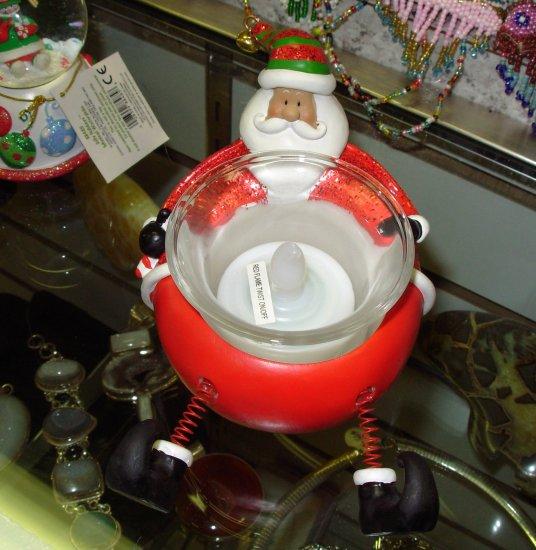 SANTA CHRISTMAS XMAS TEALITE HOLDER SANTA IN SANTA SUIT NEW GANZ HOME HOLIDAY DECOR