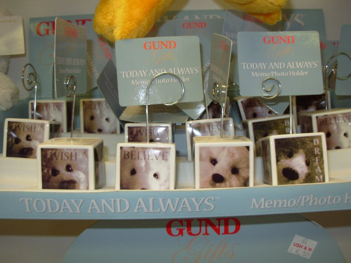 MEMO PHOTO HOLDER WITH SNUFFLES TODAY AND ALWAYS GUND RETIRED ITEM NEW HOME DECOR