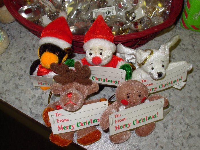 CHRISTMAS PACKAGE TIES MOOSE SNOWMAN PENQUIN GINGERBREAD MAN AND POLAR BEAR ANGEL NEW GANZ