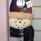 CHRISTMAS SNOWMAN DOORHANGER NEW WITH TAGS GANZ HOLIDAY HOME DECOR