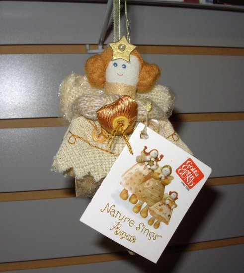 GUND NATURE SINGS ANGEL CHRISTMAS ORNAMENT CREATED BY SWEET HOME DESIGNED BY CHERYL ANN JOHNSON NEW