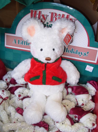 GUND MOJO JR MOUSE HOLIDAY CHRISTMAS PLUSH STUFFED ANIMAL NEW WITH TAGS RETIRED GUND