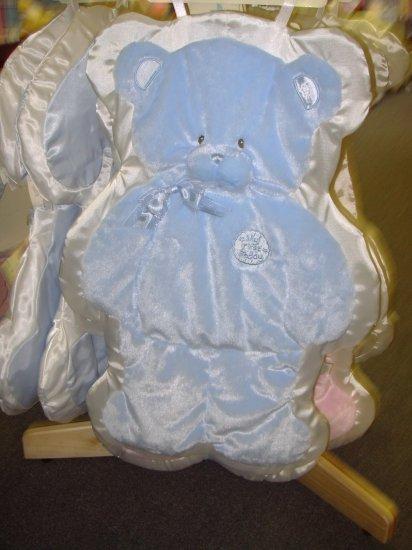 GUND MY FIRST TEDDY CUDDLEHUGS BLUE BEAR BLANKET WALL HANGING NEW WITH TAGS GUND BABY NURSERY