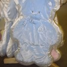 GUND MY FIRST TEDDY CUDDLEHUGS BLUE BEAR BLANKET WALL HANGING NEW WITH TAGS GUND BABY NURSERY