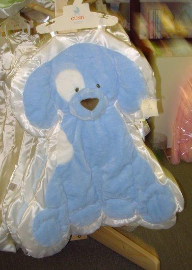 GUND SPUNKY CUDDLEHUGS BLUE BLANKET WALL HANGING NEW BABY NURSERY DECOR MACHINE WASHABLE