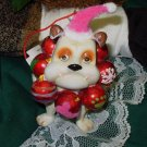 BULLDOG CHRISTMAS ORNAMENT RESIN NEW WITH TAGS GANZ HOLIDAY HOME DECOR