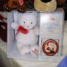 BABYS FIRST CHRISTMAS KEEPSAKE BEAR AND ORNAMENT BABY GUND 2007 NEW IN BOX RETIRED COLLECTIBLE