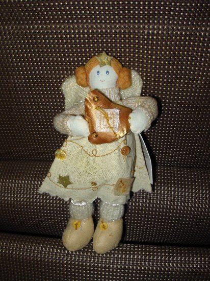 GUND NATURE SINGS GOLD ANGEL DOLL CREATED BY SWEET HOME NEW RETIRED CHRISTMAS PLUSH