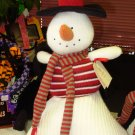 HANDKNIT SNOWMAN GUND COUNTDOWN TO CHRISTMAS COLLECTION NEW PLUSH STUFFED SNOWMAN