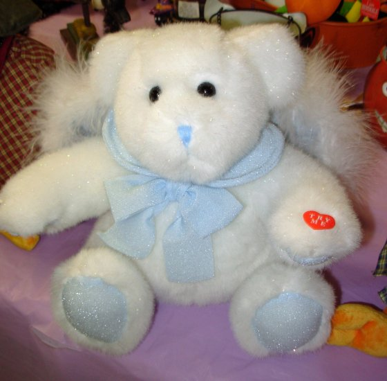 ANGEL BEAR ITS A BOY PLAYS NURSERY RHYMES WINGS HEAD AND ARMS MOVE NEW BABY GANZ