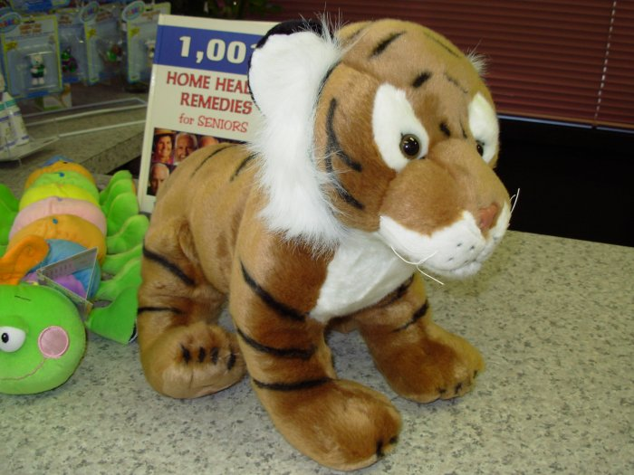 LARGE TIGER PLUSH STUFFED ANIMAL NEW GANZ JUNGLE CATS