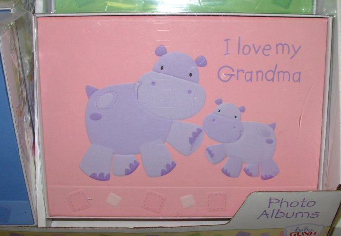 GUND NEW HUGS AND KISSES I LOVE MY GRANDMA BABY PHOTO ALBUM