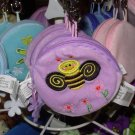 COIN PURSE BUMBLE BUGS LAVENDER NEW GANZ KIDS ADULTS KEY CLIPS