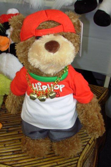 HIP HOP RANDY RAPS JINGLE BELLS PLUSH STUFFED ANIMAL BEAR GUND ANIMATED SOUND TOY CHRISTMAS NEW