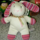 BUNNY STUFFED PLUSH ANIMAL LARGE PLOPKIN EASTER BUNNY RABBIT GUND COLOR MY WORLD RETIRED COLLECTION