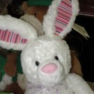 JALOPY WHITE BUNNY RABBIT PLUSH STUFFED ANIMAL RETIRED GUND COLOR MY WORLD EASTER TOY