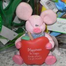 COMFY CRITTERS PINK PIG FIGURINE GUND RETIRED SAYS HAPPINESS BE HAPPY..  NWT