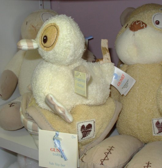 TUB TOY SET BABY BEGINNINGS LITTLE DUCKIE RATTLE AND WASHCLOTHES NEW GUND BABY
