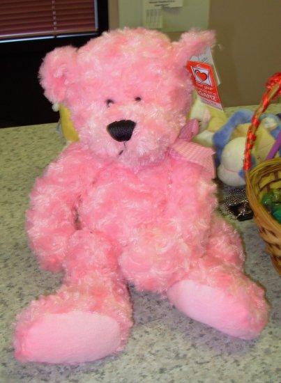 PINK BEAR PLUSH STUFFED ANIMAL BLOSSOM NEW GANZ TOY BEAR