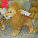LION PLUSH STUFFED ANIMAL WILD CATS NEW GANZ TOY COLLECTION