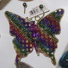 MAGNET MULTI-COLORED BUTTERFLY SEQUINS  AND BEADS ON NET NEW GANZ HOME DECOR KITCHEN DECOR