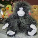 BIG APE IKE PLUSH STUFFED ANIMAL NEW GANZ BLACK AND GREY PLUSH MONKEY TOY