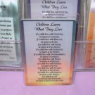 CHILDREN LEARN INSPIRATIONAL POCKET CARDS NEW GANZ WONDERFUL GIFT ITEMS